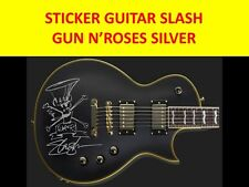 SLASH GUN N'ROSES STICKER GUITAR SILVER VISIT OUR STORE WITH MANY MORE MODELS