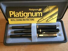 VINTAGE BUT NEW BOXED 3 PEN SET BY PLATINGUM