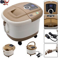 Foot Spa Bath Massager Portable Bubble Heat LED Display Infrared Relax