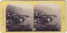 A. Braun Canobbio Lac Majuere Italie Italia Stéréo Vintage albumine ca 1865