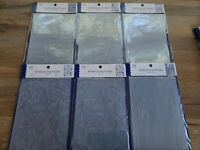 Lot Of 6 Embossing Folders Various Designs (w)