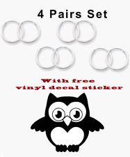 4 Pairs Set Super Small Mini Hoop Earrings Sterling Silver 925 USA Seller 14mm