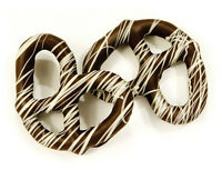 Asher's Gourmet Pretzels-Dark Chocolate Covered w/White String-1LB FREE SHIPPING
