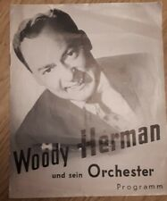 Old WOODY HERMAN Jazz Concert Tour  Programme Germany DOLLY HOUSTON, RALPH BURNS