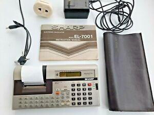 Vintage Sharp EL-7001 Memowriter Printing Calculator Computer Very Rare