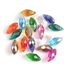 20pcs DIY Crystal Beads Teardrop Top Drilled Jewellery Making Assorted 13mm