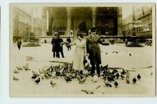 Vintage Postcard RPPC German Couple Square in Munich 1935