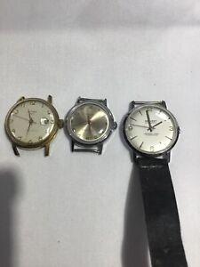 Job Lot Vintage Mens Watches Hermes+Timex+Salvest
