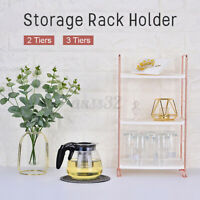 2/3Tires Storage Rack Stand Caddy Shelf Holder Desk Kitchen Bathroom Organizer