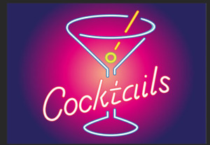 Neon Style Cocktail Metal Sign ManCave Bar Beverage Pub Plaque Club Alcohol Shed