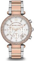 Michael Kors Ladies' Rose Gold Parker Chronograph Watch MK5820