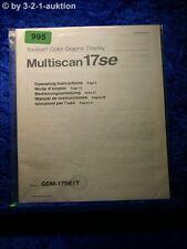 Sony Bedienungsanleitung GDM 17SE1T Multiscan 17se Graphic Display (#0995)