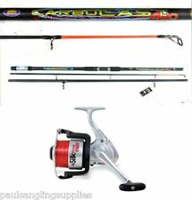 Lineaeffe 14ft Carbocast Beachcaster /Surf Fishing Rod & Silk reel with Line