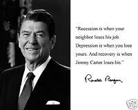 President Ronald Reagan Autograph Quote 8 x 10 Photo Picture  #bwr2