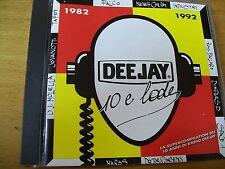 DEEJAY 10 E LODE 1982- 1992 CD MINT--- RARO DJ MOLELLA JOVANOTTI FALCO SPACE 1
