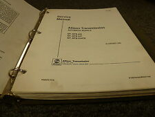 Allison Mt654Cr & Mtb654Cr Transmission Shop Service Repair Manual Book