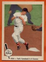 1959 Fleer #53 Ted Williams EX-EXMINT+  HOF Boston Red Sox FREE SHIPPING