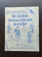 Vintage Dress Making Patterns Woman's Weekly Patterns Adults & Childrens 60/70's