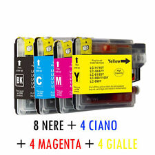 KIT 20 CARTUCCE COMPATIBILI X BROTHER MFC-6890CDW LC 980 LC 1100 BK C M Y