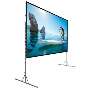 """Da- Lite Fast-Fold Deluxe Screen, 83"""" x 144"""" Dual Vision Front/Rear Projection"""