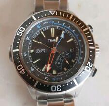 Reloj Medidor de profundidad Timex Intelligent Quartz para hombre, esfera negra,