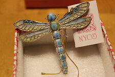 """NY Co Design Dragon Fly 3"""" x3""""  high new in box"""