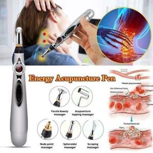 3 in 1 Elektrisch Akupunktur Stift Magnettherapie Meridian Körper Massagegerät