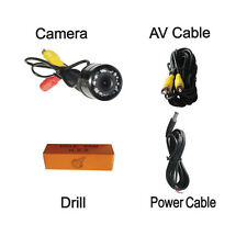 12V CCD Auto Reverse Parking Kit Car Backup Rear View Camera 10 LEDs Waterproof