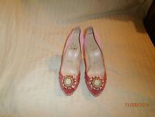 Christian Louboutin Pink Satin Pompadouce Peep-Toe Pumps Size 6/36
