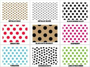 "POLKA DOTS Design Gift Grade Tissue Paper Sheet 15"" x 20"" Choose Color & Package"