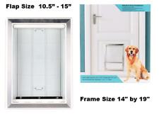 Plastic Pet Door Extra Large Dog Cat Doggie Aluminum Lining Soft Flap Durable