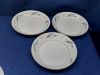 "Vintage Valmont Fine China ""Laguna"" Set/3 Soup/Salad Bowls Retired Japan"