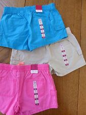 So Girl's Size 12 NEW Shorts Adjustable Waist Pink Blue Tan Utility $72 retail