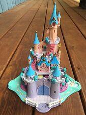Vtg. 1995 Disney World Polly Pocket Cinderella's Castle W/Working Lights