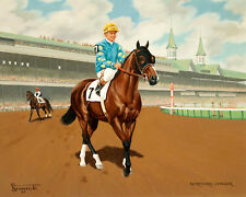 Northern Dancer, 1964 Artist Rendering, 8x10 Color Photo