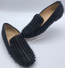 Auténtico Christian Louboutin Rollerboy Spike Mocasines zapatos sin taco RRP £ 800