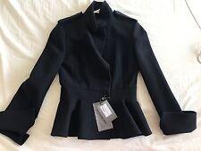 Alexander McQueen Navy Peplum Blazer Short Coat Size 40