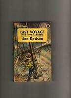 Last Voyage (The mariner's library) by Davison, Ann Paperback Book The Fast Free