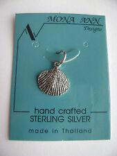 Sterling Silver Small Sea Shell Pendant New