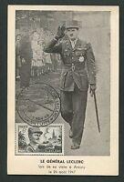 FRANCE MK 1948 GENERAL LECLERC MAXIMUMKARTE CARTE MAXIMUM CARD MC CM d5254