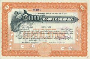 Chino Copper Company, 1918