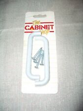 **NEW** PAIR OF D SHAPE DRAWER/CABINET HANDLES IN PASTEL GREY