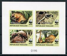 Togo 2010 WWF Schuppentier Kartonpapier Numeriert Block MNH