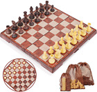 Peradix Chess Checkers Set 2 in 1, Magnetic Chess Board Set