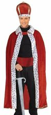 King Costume Robe and Crown Royal Classic Red Cape Royalty Prince - Fast Ship -
