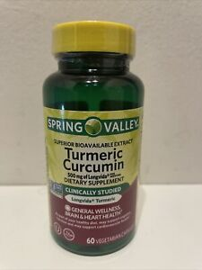 SPRING VALLEY SUPERIOR BIOAVAILABLE EXTRACT TURMERIC CURCUMIN 500 MG 60 CAPS