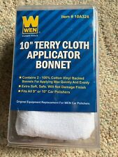 WEN 10A324 Cotton Applicator Bonnet, 9-inch to 10-inch, 2-pack