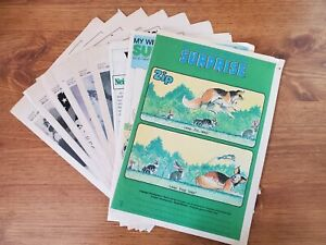 Vintage Weekly Reader magazines, lot of 9 from 1980's