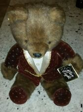 Wallace berrie applause after eight plush teddy bear with tag