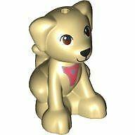 LEGO Friends Baby Puppy Dog Sitting Animal Minifigure (Tan)